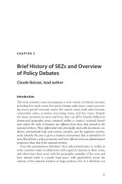 Brief History of SEZs and Overview of Policy Debates