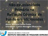 Não-gaussianidade na Radiação Cósmica de Fundo ... - mtc-m19:80