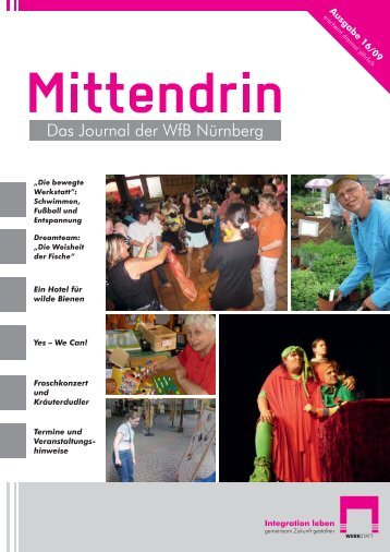 Ausgabe 16/09 - Die Werkstatt für Behinderte der Stadt Nürnberg ...