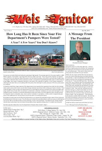 The Weis Ignitor May Issue 7-10 - Weis Fire & Safety Equipment ...