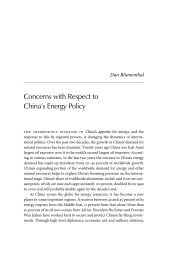 Concerns with Respect to China's Energy Policy - Andrew S. Erickson