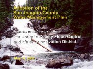 Presentation on the Water Management Plan - San Joaquin County