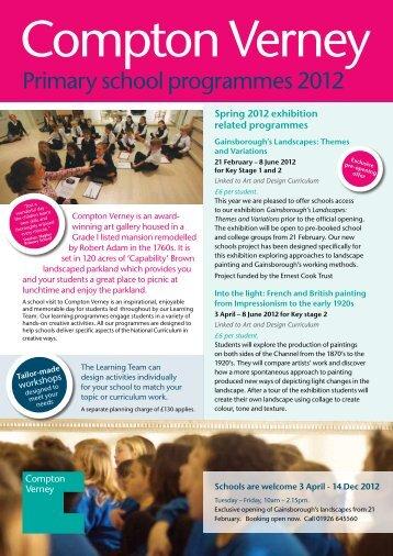 Primary school programmes 2012 - Compton Verney