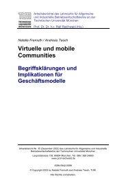 Virtuelle und mobile Communities