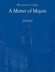 A Matter of Majors - Westminster College