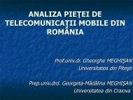 analiza pieţei de telecomunicaţii mobile din românia - ecr-uvt