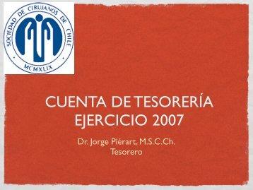 cuenta 2007 - Sociedad de Cirujanos de Chile