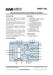 WM8711BL, Rev 4.2 - Wolfson Microelectronics plc