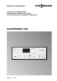CALOTRONIC 150 Notice d'utilisation - Viessmann