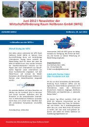 Newsletter Juni 2012 - Wirtschaftsförderung Raum Heilbronn GmbH