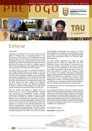 Phetogo Vol. 2 No. 4 March 2012 - TAU - National Treasury