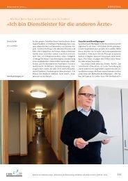 «Ich bin Dienstleister für die anderen Ärzte» - Schweizerische ...