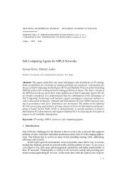 Soft Computing Agents for MPLS Networks - Cybernetics and ...