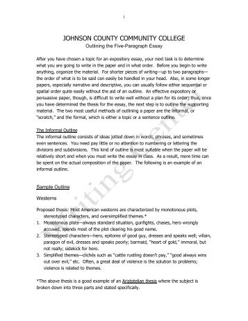 bing bang bongo five paragraph essay outline outlining the five paragraph essay johnson county community