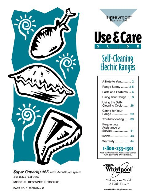 Self Cleaning Electric Ranges Whirlpool