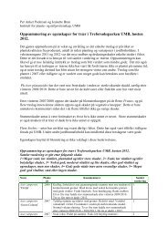 Oppsummering av egenskaper for trær i Treforsøksparken ... - FAGUS