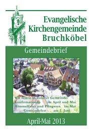 Gemeindebrief Apri - Mail 2013 - Evangelische Kirche Bruchköbel