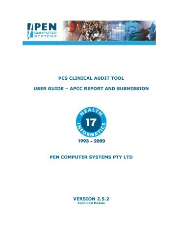 pcs clinical audit tool user guide - Pen Computer Systems
