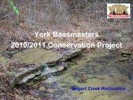York Bassmasters 2010/2011 Conservation Project