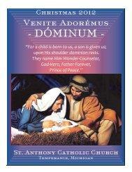 christmas bulletin - St Anthony Catholic Church