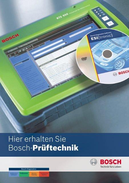 Hier erhalten Sie Bosch-Prüftechnik - Bosch - Werkstattportal