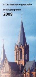 St. Katharinen Oppenheim Musikprogramm onen - Evangelische ...
