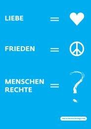 Flyer Logo Menschenrechte deutsch