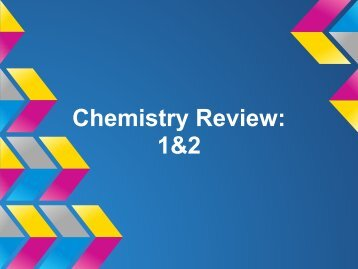 Chemistry Review: 1&2 - Duluth High School