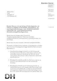 Danske Havnes svar på høring af bekendtgørelse om refusion af ...