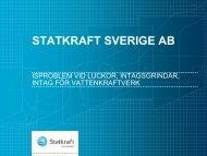 statkraft i sverige - Energi Norge