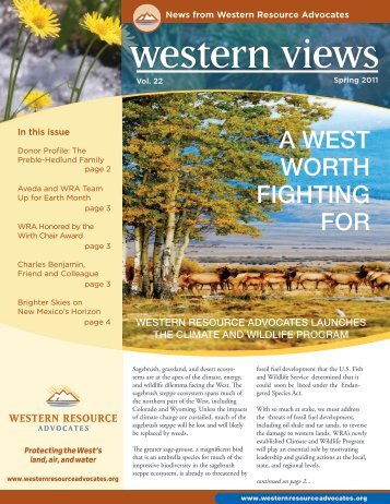 acres saved - Western Resource Advocates