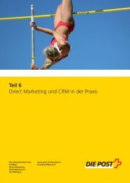 Direct Marketing und CRM in der Praxis - Die Schweizerische Post