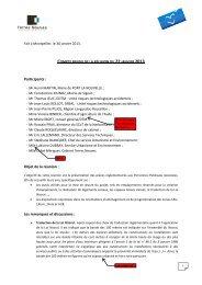 Participants : Objet de la réunion : Les remarques ... - Port la Nouvelle