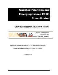 Updated priorities and Emerging Issues 2012 - University of Guelph
