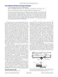 A broadband vibrational energy harvester - Mechanical Engineering ...
