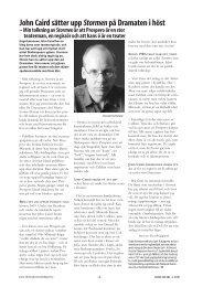 John Caird sätter upp Stormen på Dramaten i höst – Min tolkning av ...