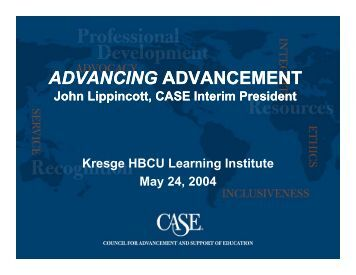 Advancing Advancement - CASE