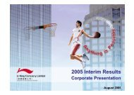 2005 Interim Results Corporate Presentation - Li Ning
