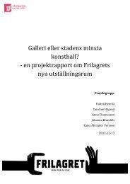 Frilagret - Kulturverkstan