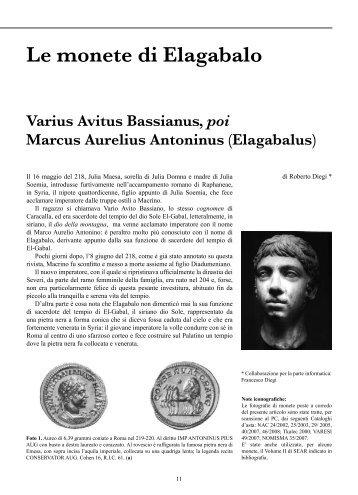Le monete di Elagabalo - Panorama Numismatico