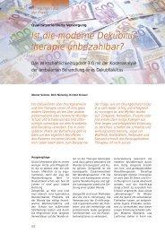 Ist die moderne  Dekubitus- therapie unbezahlbar ... - Werner Sellmer