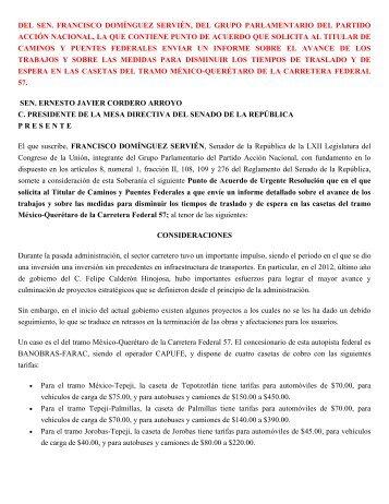 del sen. francisco domínguez servién, del grupo parlamentario del ...