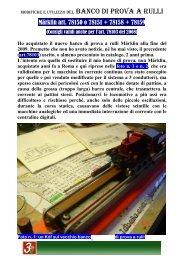 Capitolo 045° Modifiche ed utilizzo del banco di prova a ... - 3Rotaie.it