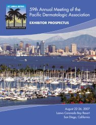PDA's 59th Annual Meeting A - Pacific Dermatologic Association