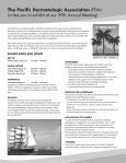 PDA's 59th Annual Meeting A - Pacific Dermatologic Association - Page 2