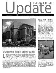 Update August layout - La Roche College