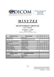 minutes dicom working group six