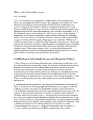A Blueprint for A National Bioeconomy Alan S ... - The White House