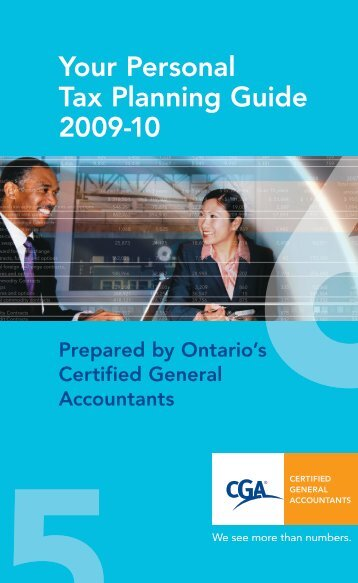 Your Personal Tax Planning Guide 2009-10 - Certified General ...