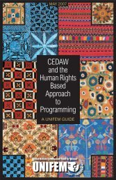 CEDAW and the Human Rights-Based Approach to ... - UN Women